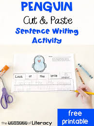Dab Copy And Paste Free Printable Penguin Sentence Sorter Cut And Paste Activity For