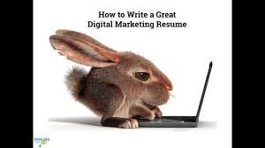How To Write A Great Digital Marketing Resume Youtube