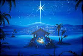 Christmas nativity scene ...