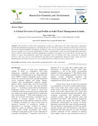 pdf a critical overview of legal profile on