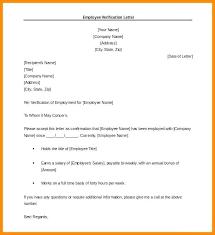 7 Employment Verification Letter Template Doc Intern Resume