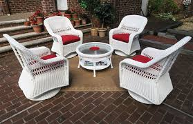 resin wicker swivel glider chair conversation set 19 5 high cocktail table white resin wicker conversation set white
