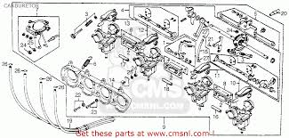 carburetor assy 1 for cb750a 750 hondamatic 1978 usa order at cmsnl 1 is shown as item 10 on the schematic