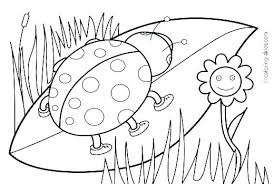 Spring Coloring Pages For Free Flower Coloring Pages Printable Free