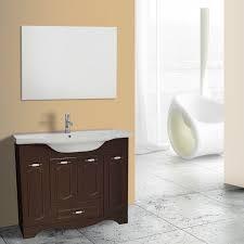 40 inch walnut floor standing bathroom vanity set vanity mirror included