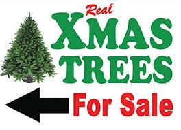 Christmas Xmas Trees For Sale Signs A1 Arrow Left Amazon Co Uk