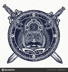 татуировки скандинавские викинг и скрещенные мечи тату кольцо с