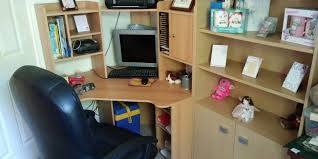 image corner computer. Corner Computer Desk With Office Chair Image