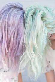 Dos Colores Pastel Preciosos Menta Y Lavanda Hair Nápady Na