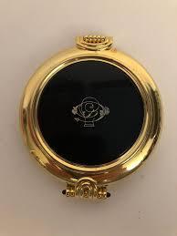 Vintage <b>Janeke</b> Compact Pocket Gold Plated Mirror Made in Italy ...
