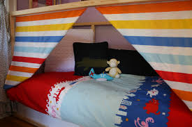 this is a photo of my boys bedroom hideout ikea kura bed homemade