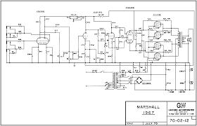 marshall schematics 1967 major lead 200w head