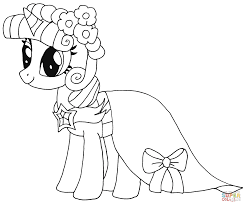 Small Picture Princess Twilight Sparkle coloring page Free Printable Coloring