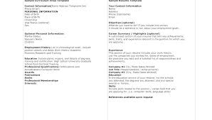 Sample Employment Resume Employment History Template Turkeytravel Co