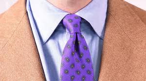Purple Tie Light Blue Shirt How To Pair Brown And Blue Gentlemans Gazette