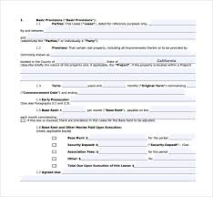 Standard Commercial Lease Agreement 8 Sample Commercial Lease Agreements Word Pdf