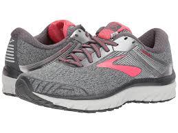 Discount Brooks Adrenaline Gts 18 Ebony Silver Pink Shoes Uk