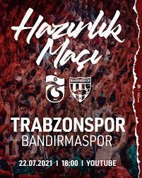 """Trabzonspor on Twitter: """"Takımımız Süper Lig 2021 – 2022 sezonu öncesi  ikinci hazırlık maçını Bandırmaspor ile oynayacak. 22 Temmuz Perşembe günü  saat 18.00'de başlayacak müsabakayı https://t.co/FMv7xxTV8q adresinden  canlı olarak izleyebilirsiniz ..."""