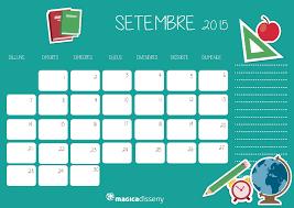 Calendario Septiembre 2015 Magicadisseny