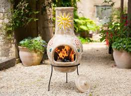 image of chiminea clay outdoor fireplace kits