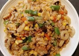 Easy Corn Fried Rice Recipe | Easy to make Corn Fried Rice Homemade |  rezeptezone