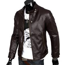 european american style motorcycle leather men jacket casual punk pilot