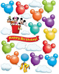 Eureka Disney Mickey Mouse Clubhouse Birthday Bulletin Board Set Classroom Decoration For Teachers 24 Pcs