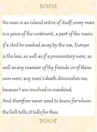no man is an island john donne essay john donnes poem no man is an island college essay help