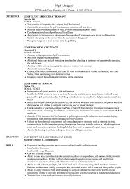 Golf Attendant Sample Resume Golf Attendant Resume Samples Velvet Jobs 1