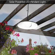 2019 solar powered pendant lights led solar shed light outdoor garden patio light solar barn light remote control hanging lamp for indoor outdoor from