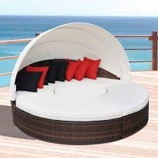 Modern outdoor daybed Patio Furniture Hot Sale Modern Outdoor Sunbed Lounge Furniture Garden Round Daybed Bed Decor8 Hot Sale Modern Outdoor Sunbed Lounge Furniture Garden Round Daybed