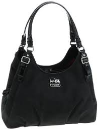 Coach Signature Madison Maggie Shoulder Hobo Bag Purse Tote 18762 Black