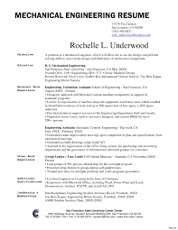 Engineering Resume Examples Sample Resume For Registered Mechanical Engineer Copy Mechanical 50