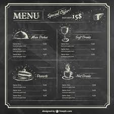 blank menu template free download printable chalkboard menu chalkboard wedding party menu menu blank