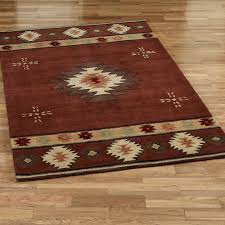 southwest diamond rectangle rug
