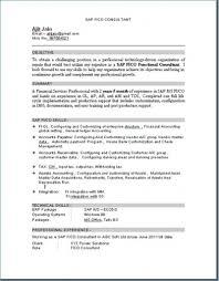 Sap Consultant Resume Download Hr End User Singlebutton Co Sap Sd