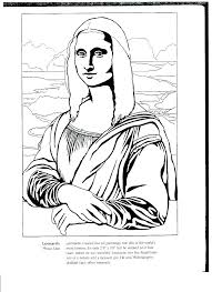 Mona Lisa Coloring Pages Betterfor