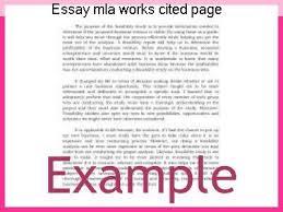 essay mla works cited page essay help essay mla works cited page