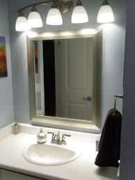 Bathroom mirror lighting Mounted Above The Mirror Lighting Pinterest Above The Mirror Lighting How To Light Up Your Bathroom