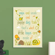 the kids room snips and snails and puppy dog tails wall plaque