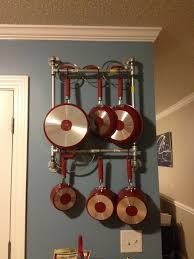 fancy pan rack together with freestanding rack ideas then pan wall rack hanging rack in pot