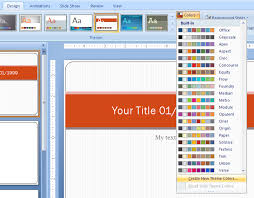 Theme For Powerpoint 2007 Change A Color In A Standard Color Theme Theme Color