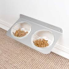 cf2 wall mounted pet feeder 4claws