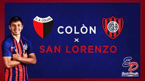 COLON VS SAN LORENZO EN VIVO - YouTube