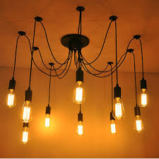 fuloon 10 lights vintage edison multiple ajule diy ceiling spider lamp pendant lighting chandelier modern chic dining light co uk