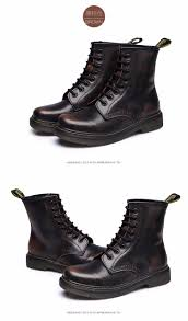 wikileaks 7 colors new england style dr genuine leather martin boots martin shoes women boots brand