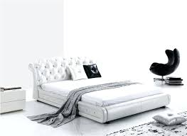white leather bed alternative views white leather king size bed with drawers