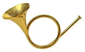 Deko Waldhorn Gold Aus Kunststoff 10 Cm Weihnachtsdeko Christbaumschmuck