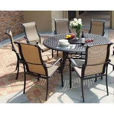 round outdoor dining sets. Bagwell 7 Piece Round Dining Set Round Outdoor Dining Sets