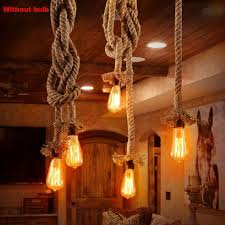 details about single heads rope pendant lights lamp vintage style for home restaurant bar